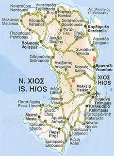 mastichový ostrov Chios